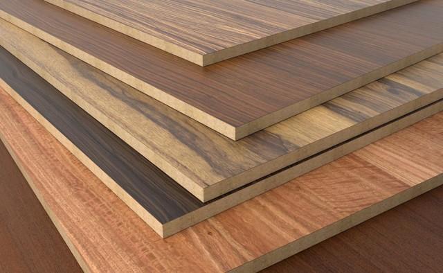 tábuas de diferentes tipos de madeiras